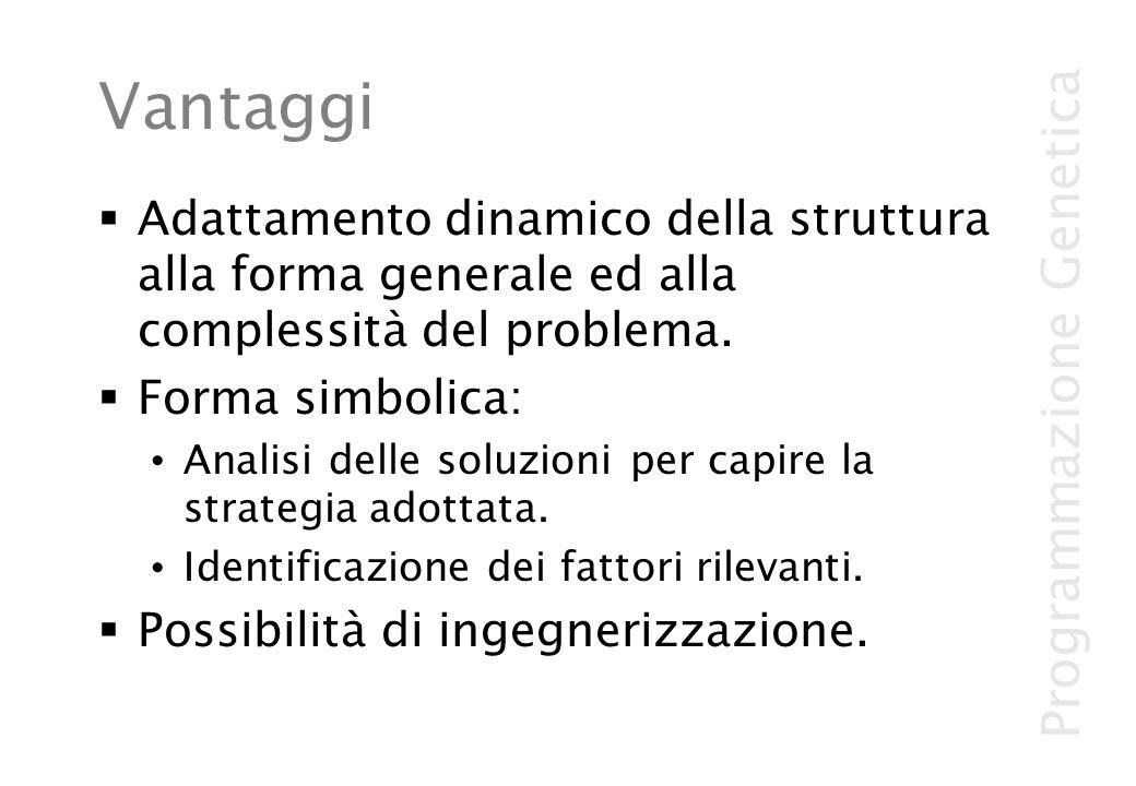 Vantaggi Adattamento dinamico della struttura alla forma generale ed alla complessità del problema.