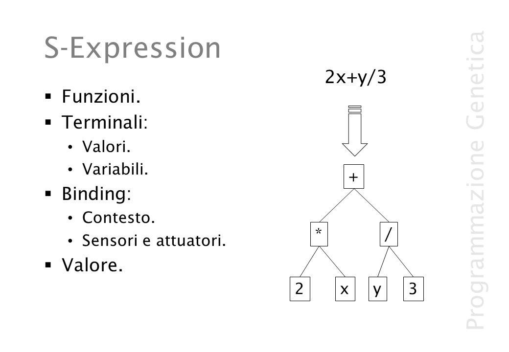 S-Expression 2x+y/3 Funzioni. Terminali: Binding: Valore. Valori.