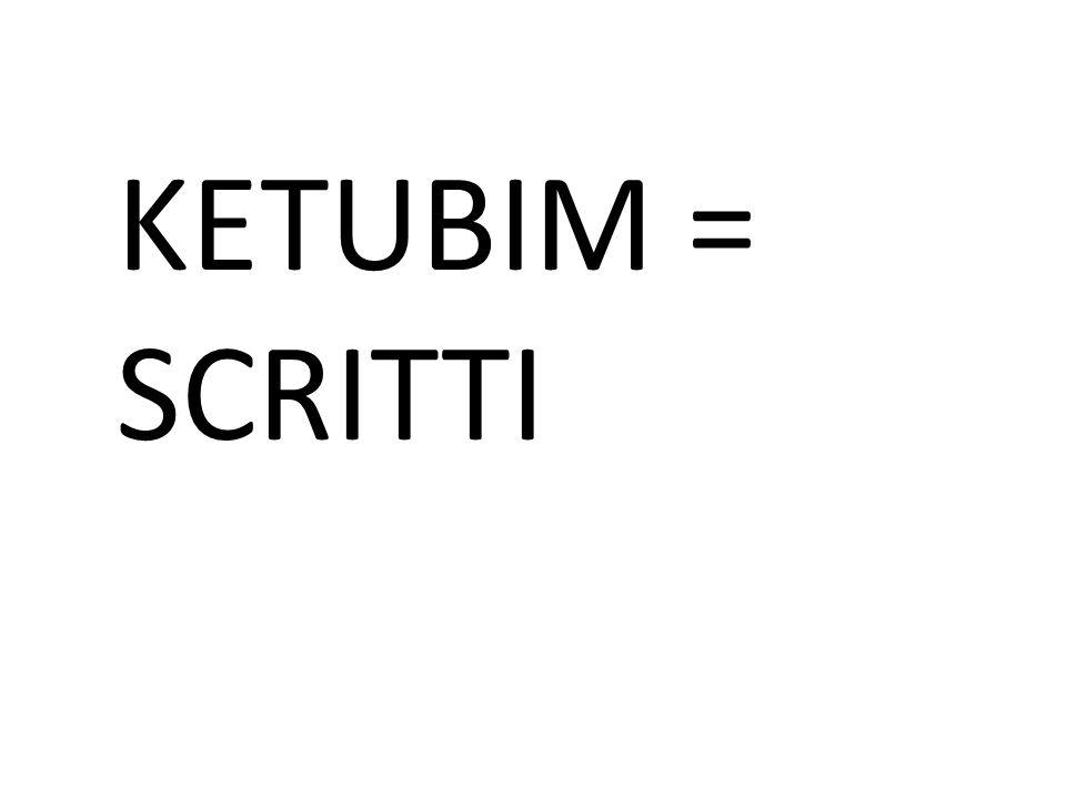 KETUBIM = SCRITTI
