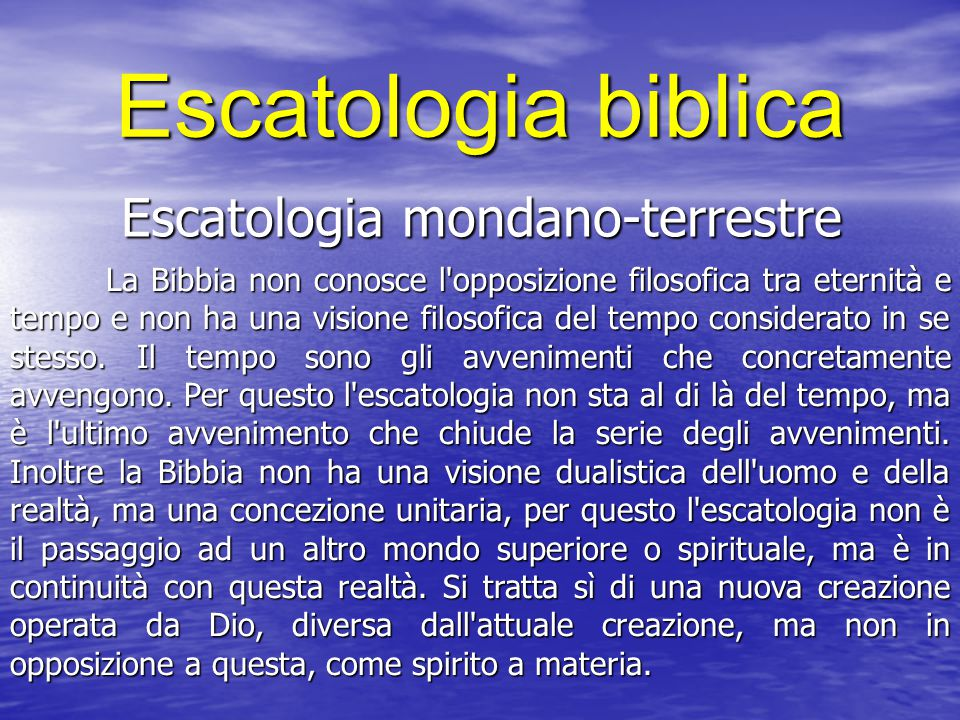 Escatologia mondano-terrestre