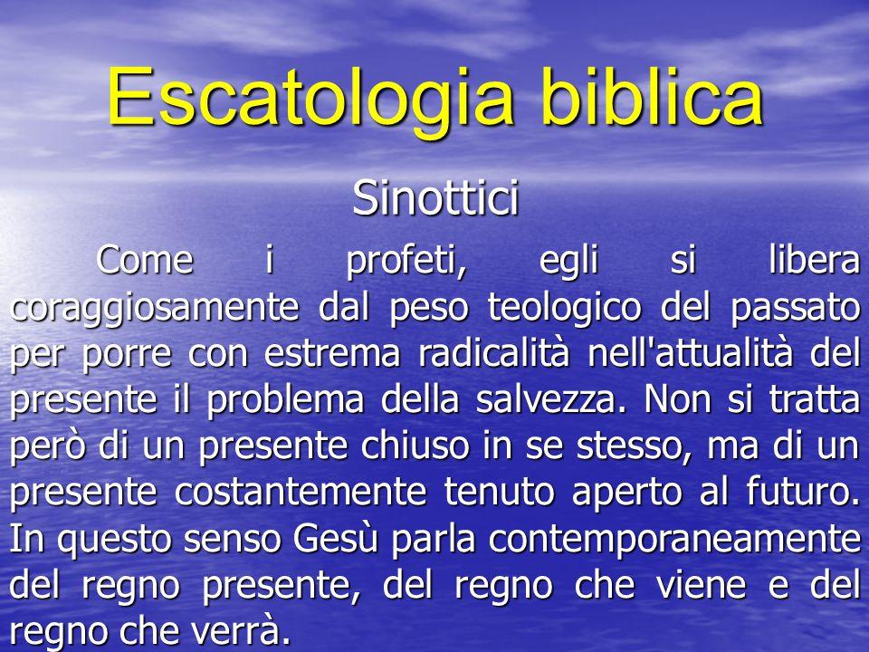 Escatologia biblica Sinottici