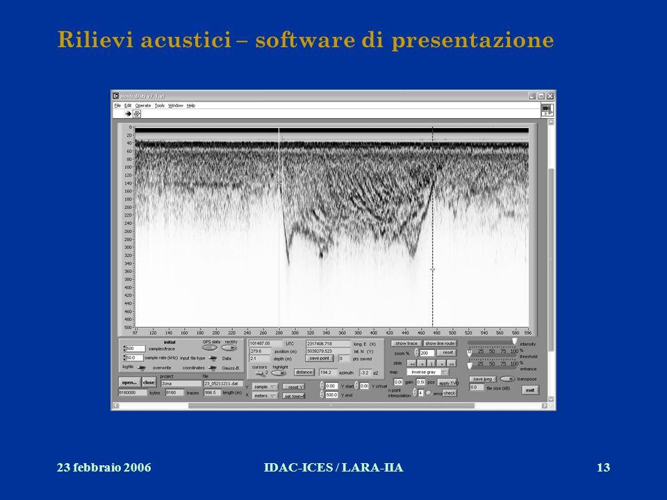 Rilievi acustici – software di presentazione