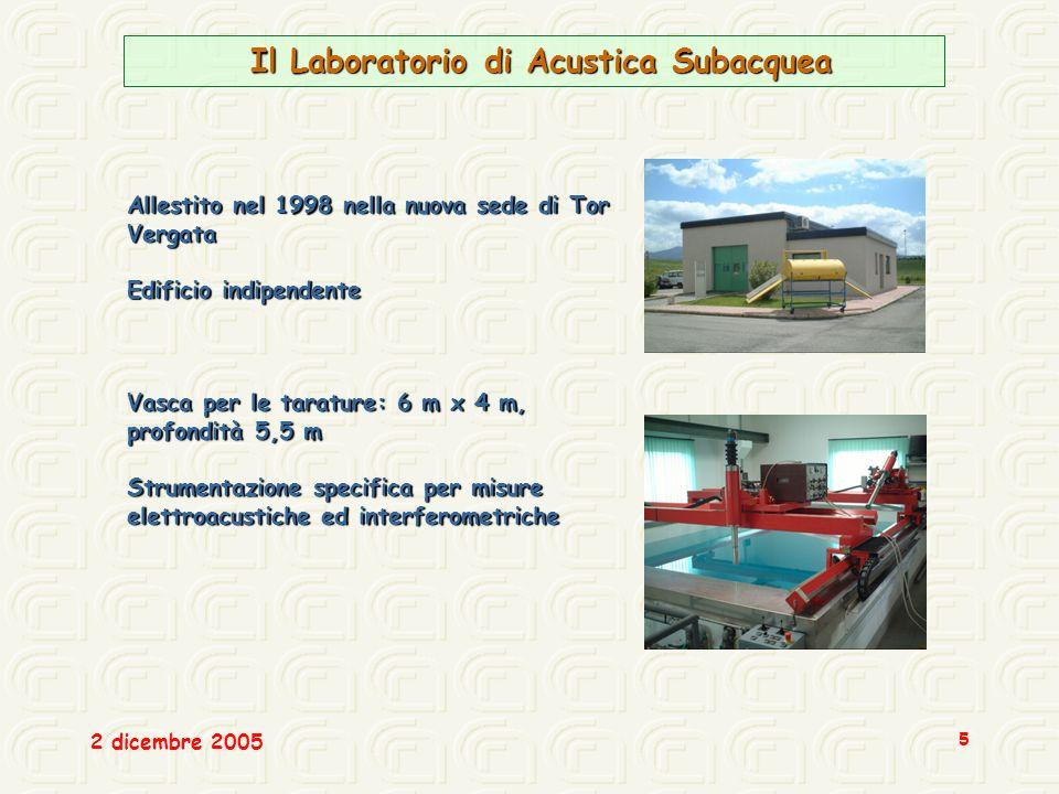 Il Laboratorio di Acustica Subacquea