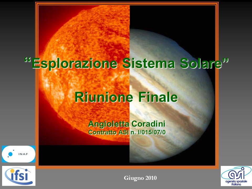 Esplorazione Sistema Solare Riunione Finale