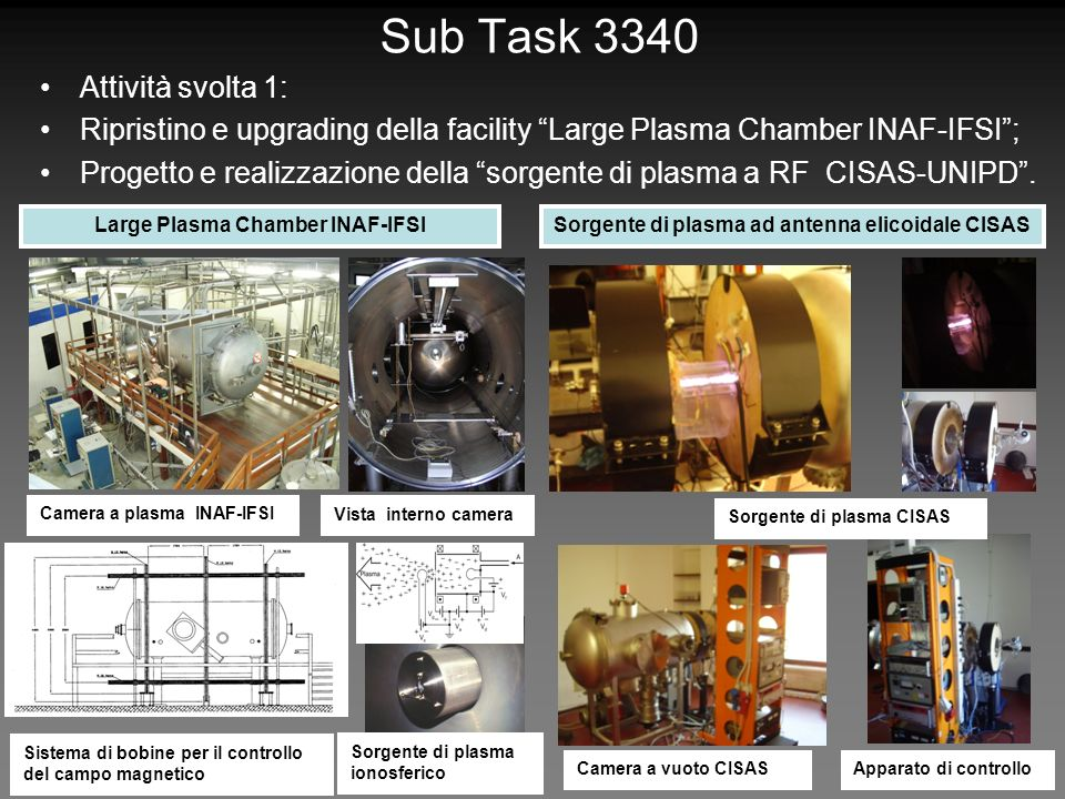 Sub Task 3340 Attività svolta 1: