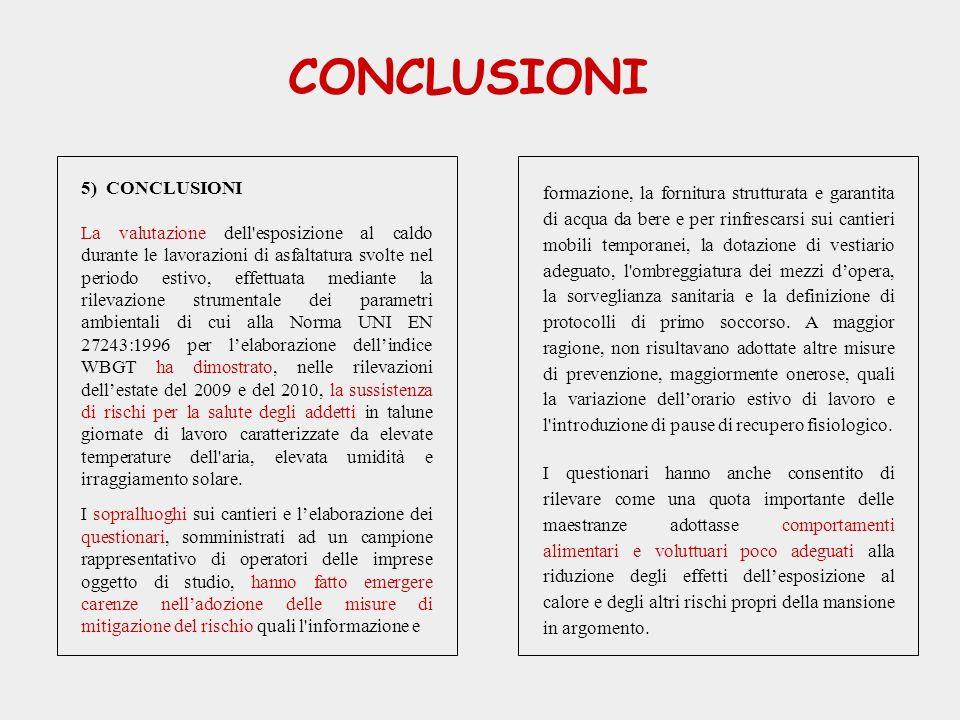 CONCLUSIONI 5) CONCLUSIONI