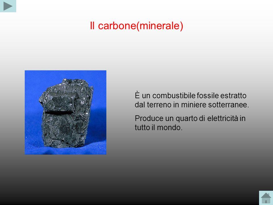 Il carbone(minerale) È un combustibile fossile estratto dal terreno in miniere sotterranee.