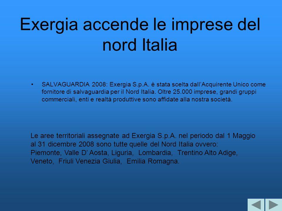 Exergia accende le imprese del nord Italia