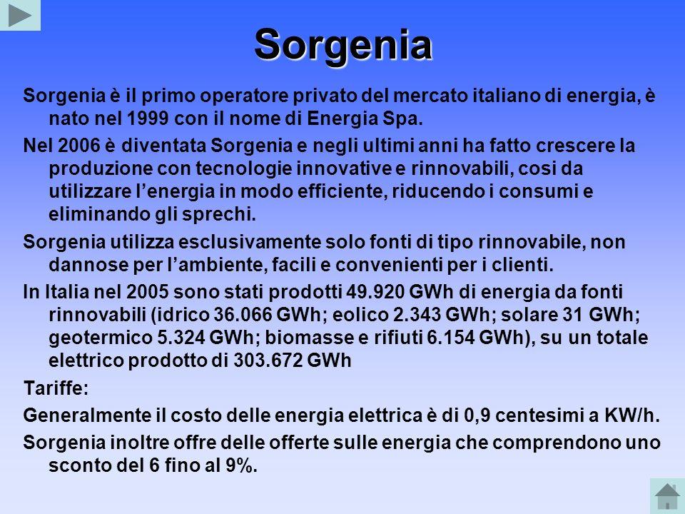 Sorgenia Sorgenia è il primo operatore privato del mercato italiano di energia, è nato nel 1999 con il nome di Energia Spa.