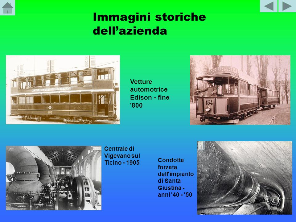 Immagini storiche dell'azienda