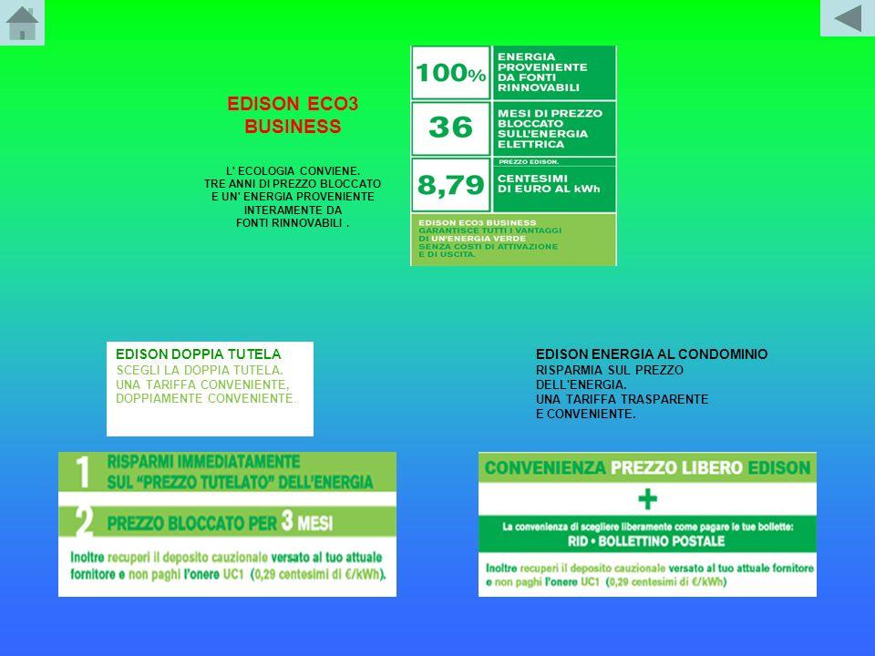 EDISON ECO3 BUSINESS EDISON DOPPIA TUTELA EDISON ENERGIA AL CONDOMINIO
