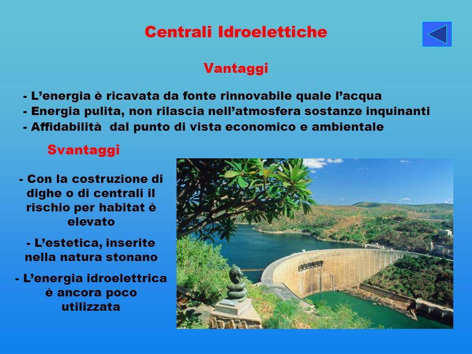 Centrali Idroelettiche Vantaggi