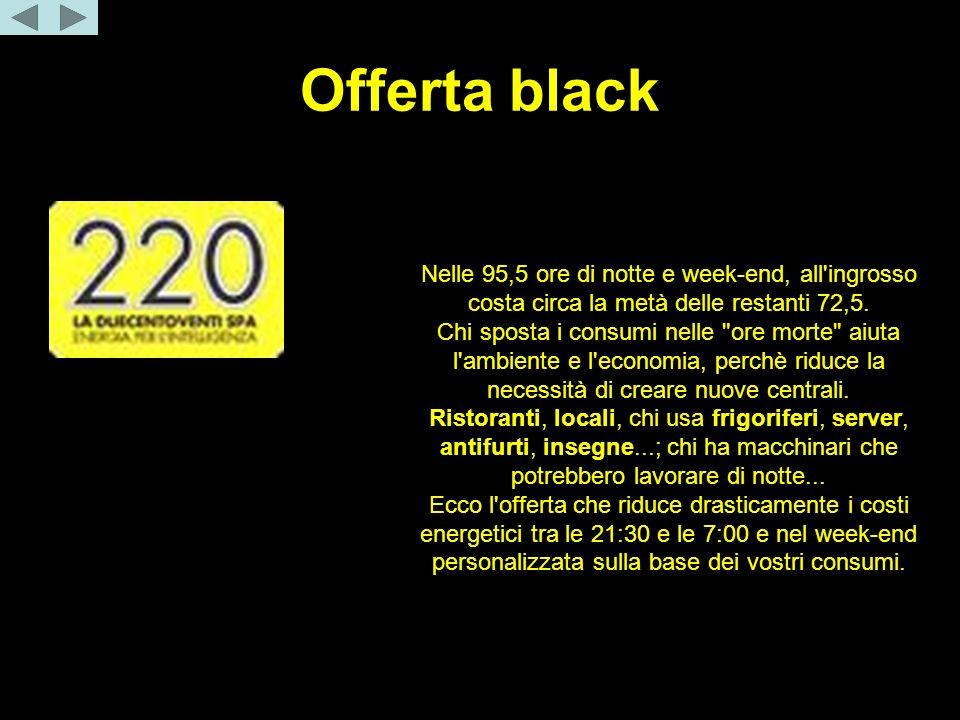 Offerta black Una settimana = 168 ore.