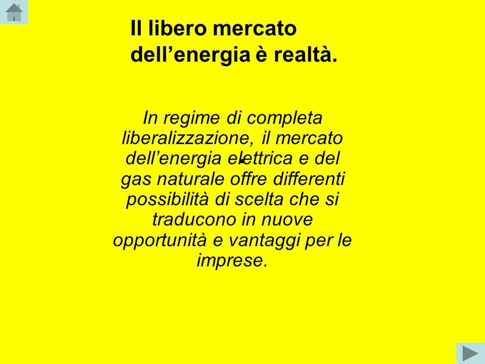 . Il libero mercato dell'energia è realtà.