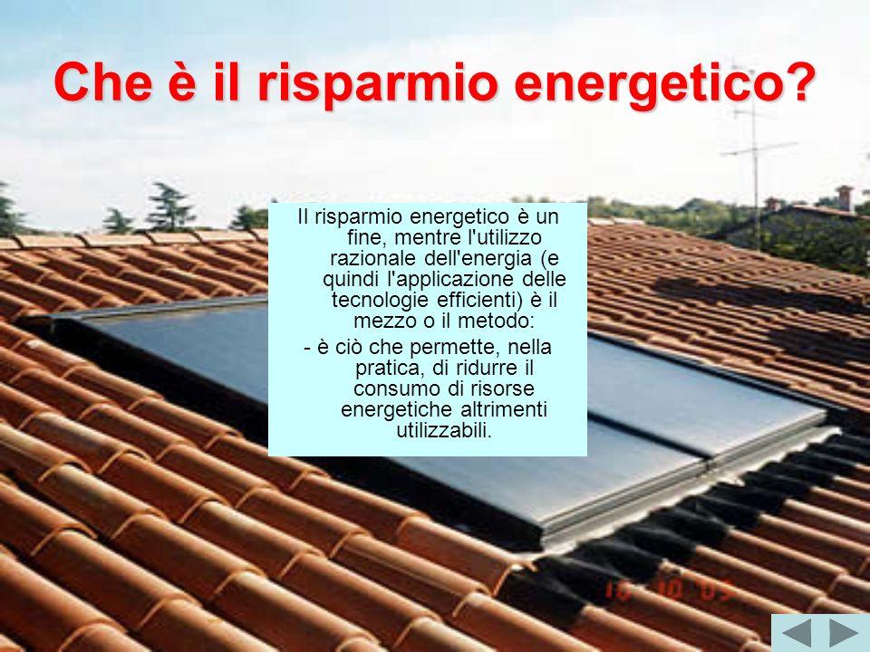Che è il risparmio energetico