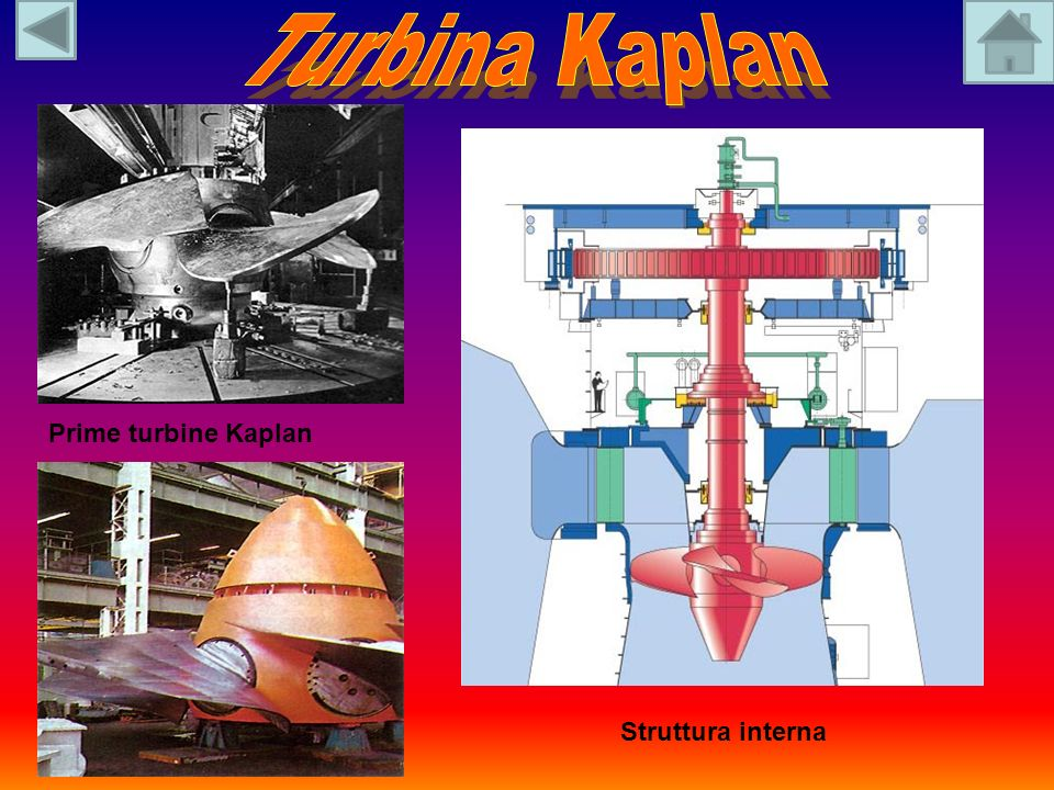 Turbina Kaplan Prime turbine Kaplan Struttura interna