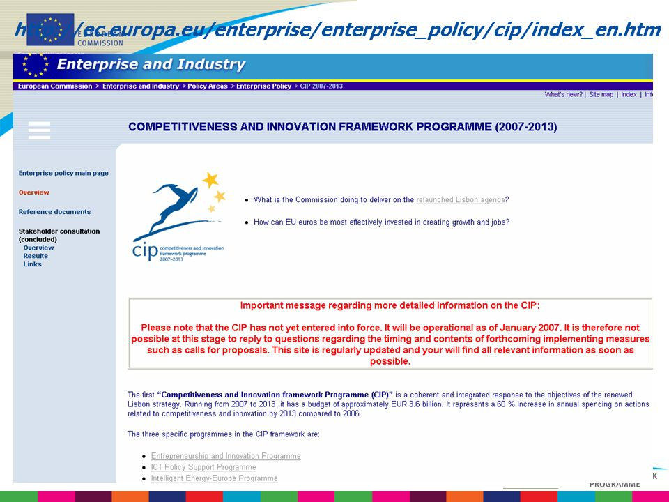 http://ec.europa.eu/enterprise/enterprise_policy/cip/index_en.htm