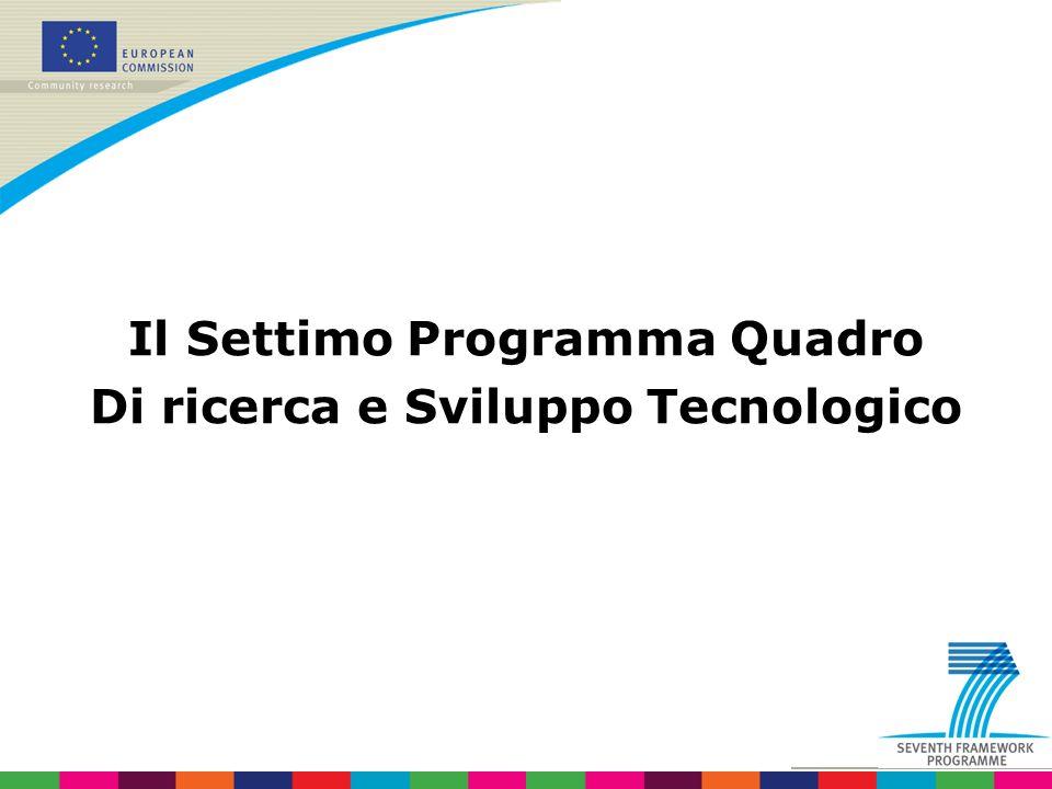Il Settimo Programma Quadro Di ricerca e Sviluppo Tecnologico