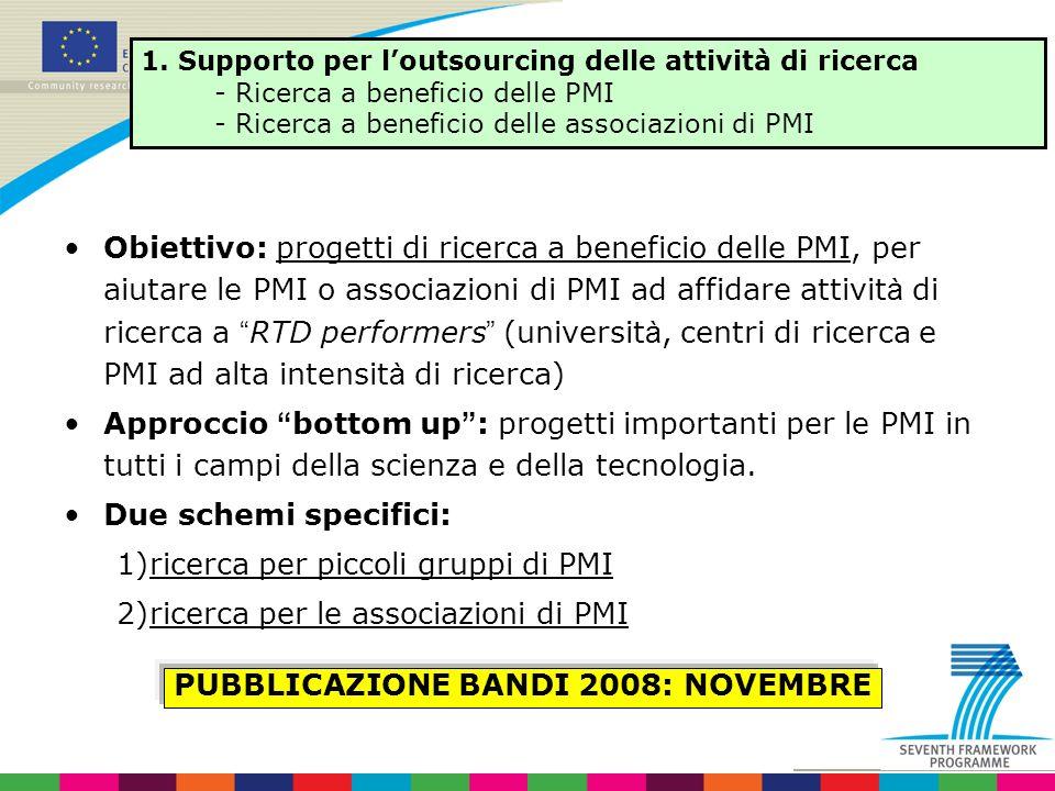 PUBBLICAZIONE BANDI 2008: NOVEMBRE