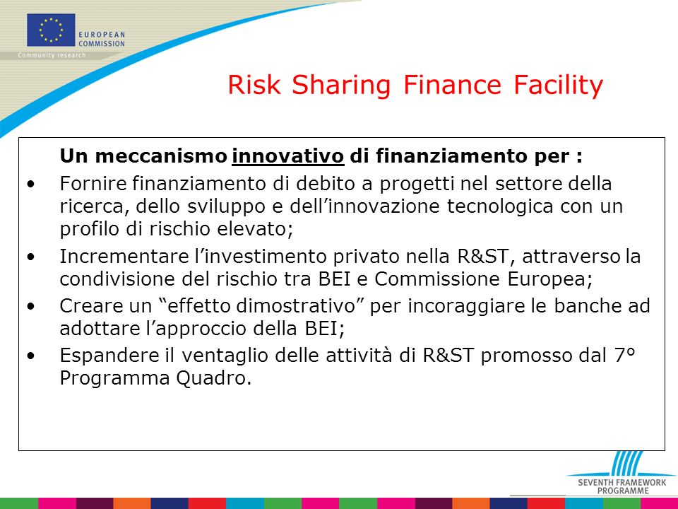 Risk Sharing Finance Facility