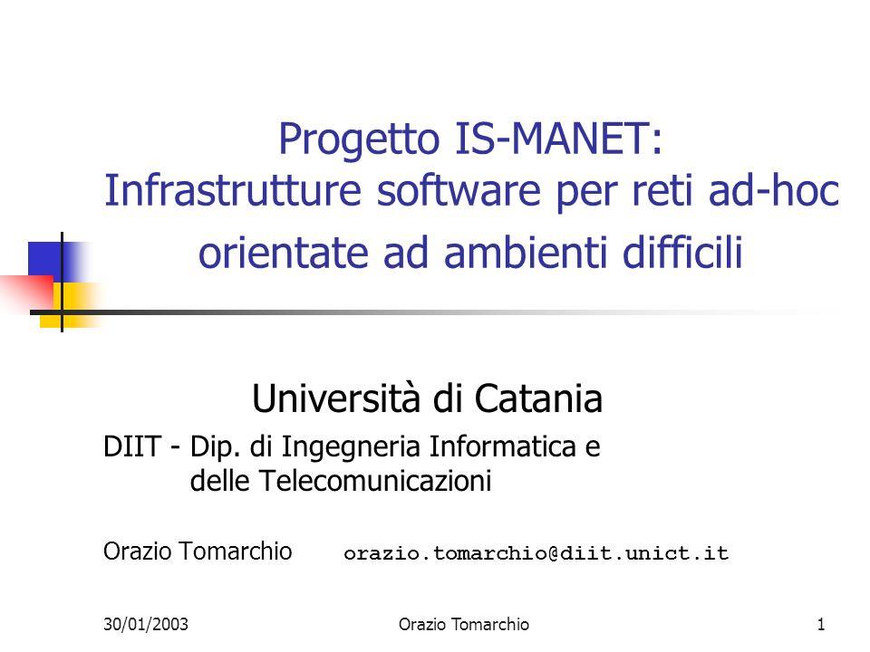 Progetto IS-MANET: Infrastrutture software per reti ad-hoc orientate ad ambienti difficili