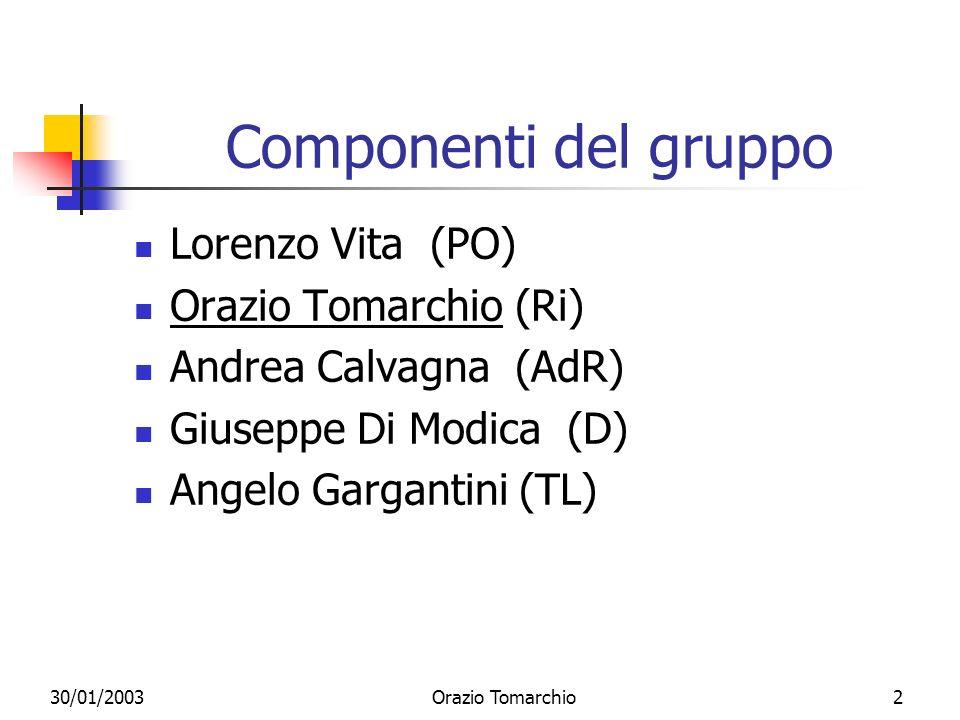 Componenti del gruppo Lorenzo Vita (PO) Orazio Tomarchio (Ri)