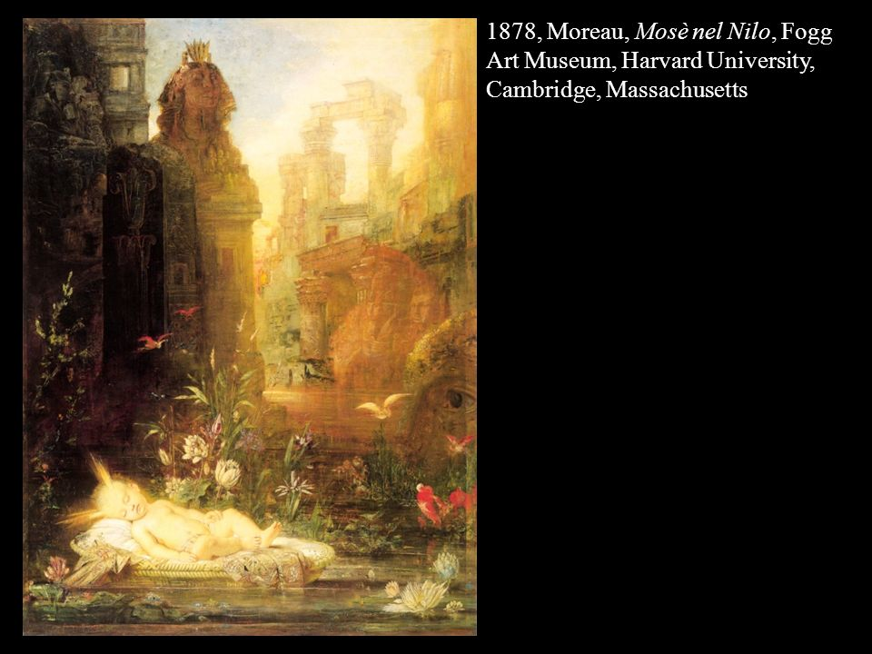 1878, Moreau, Mosè nel Nilo, Fogg Art Museum, Harvard University, Cambridge, Massachusetts