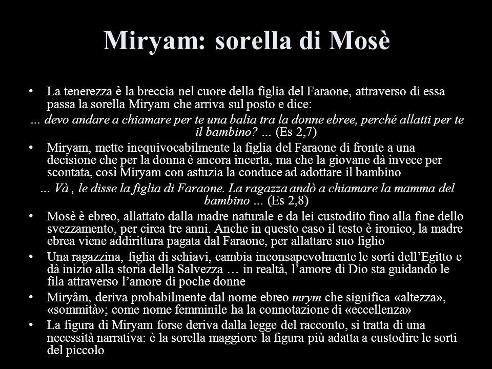 Miryam: sorella di Mosè