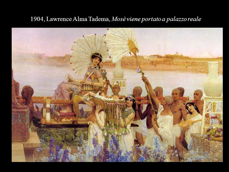 1904, Lawrence Alma Tadema, Mosè viene portato a palazzo reale