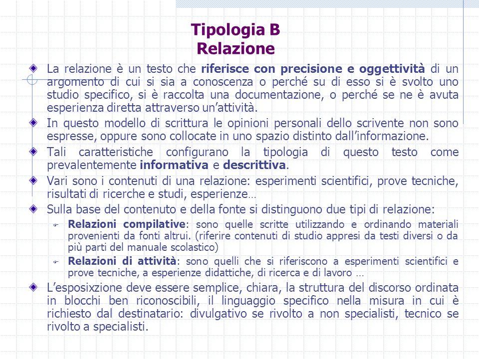 Tipologia B Relazione