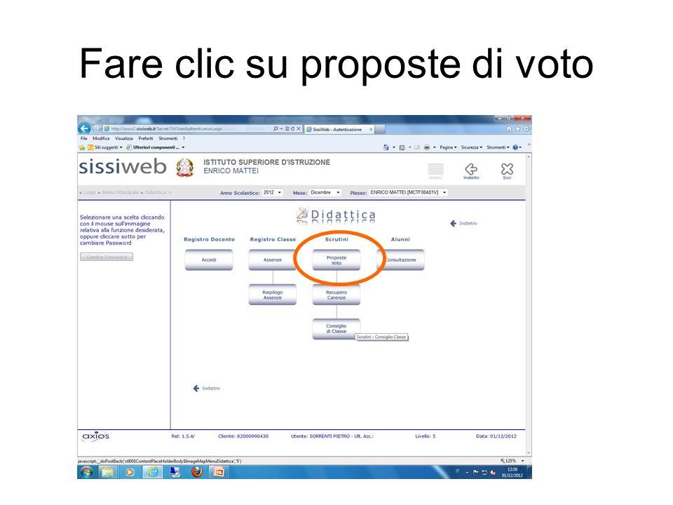 Fare clic su proposte di voto