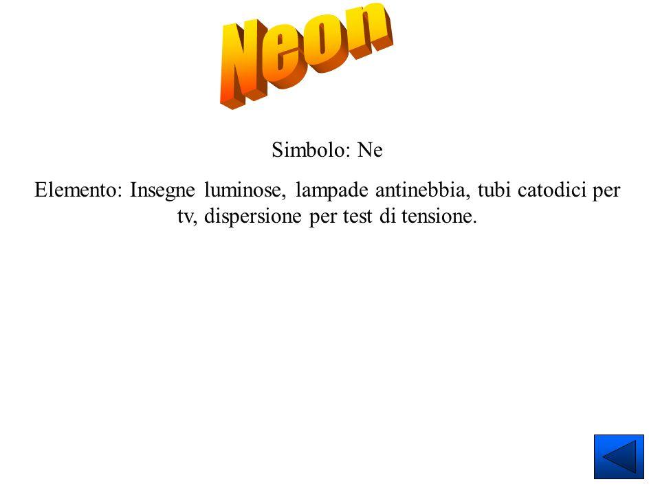 Neon Simbolo: Ne.