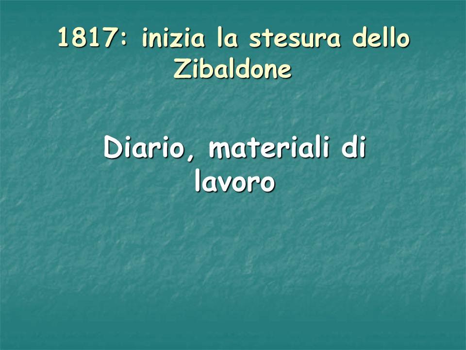 1817: inizia la stesura dello Zibaldone