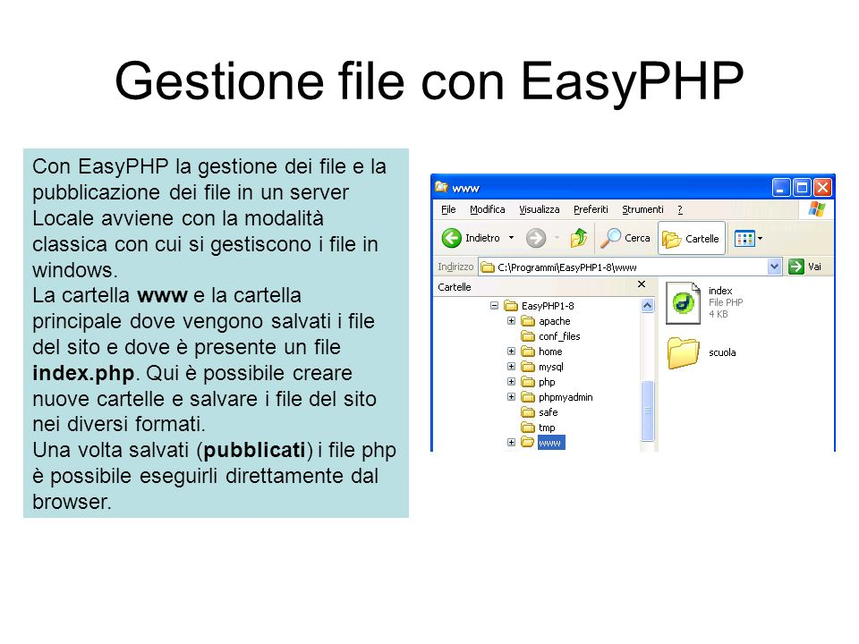 Gestione file con EasyPHP