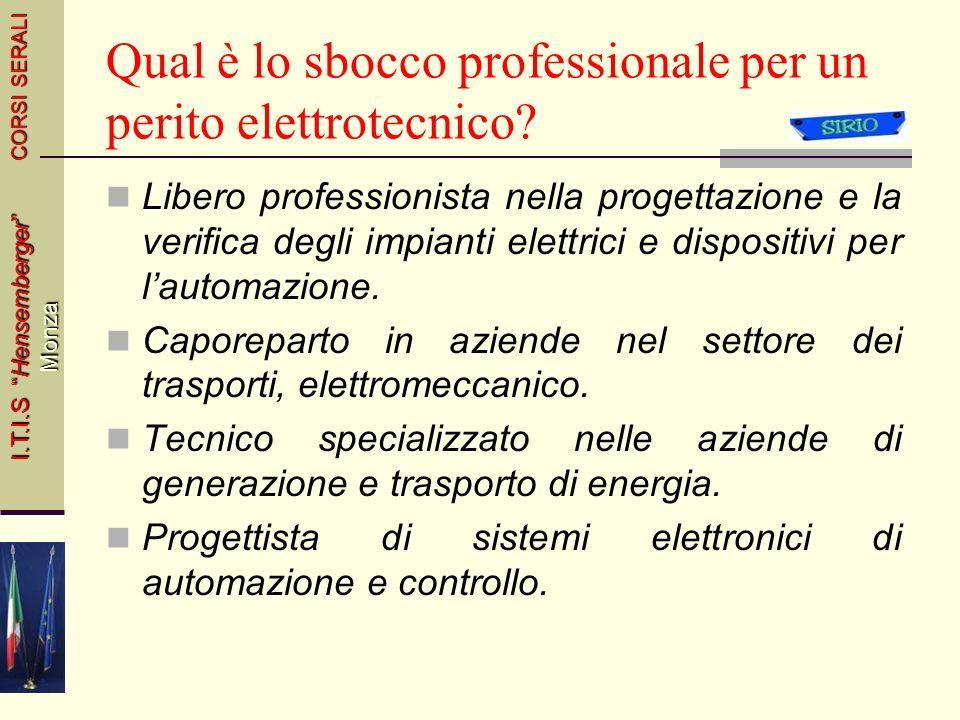 Qual è lo sbocco professionale per un perito elettrotecnico