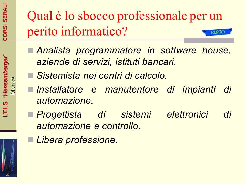 Qual è lo sbocco professionale per un perito informatico