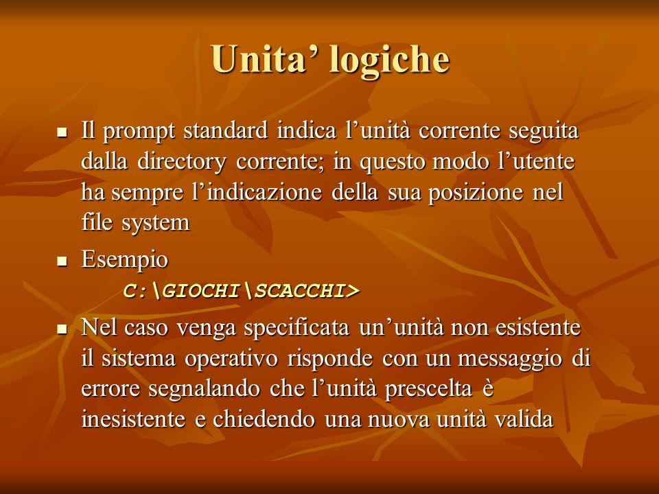 Unita' logiche