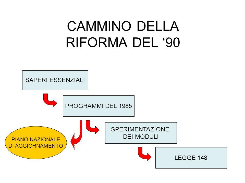 CAMMINO DELLA RIFORMA DEL '90