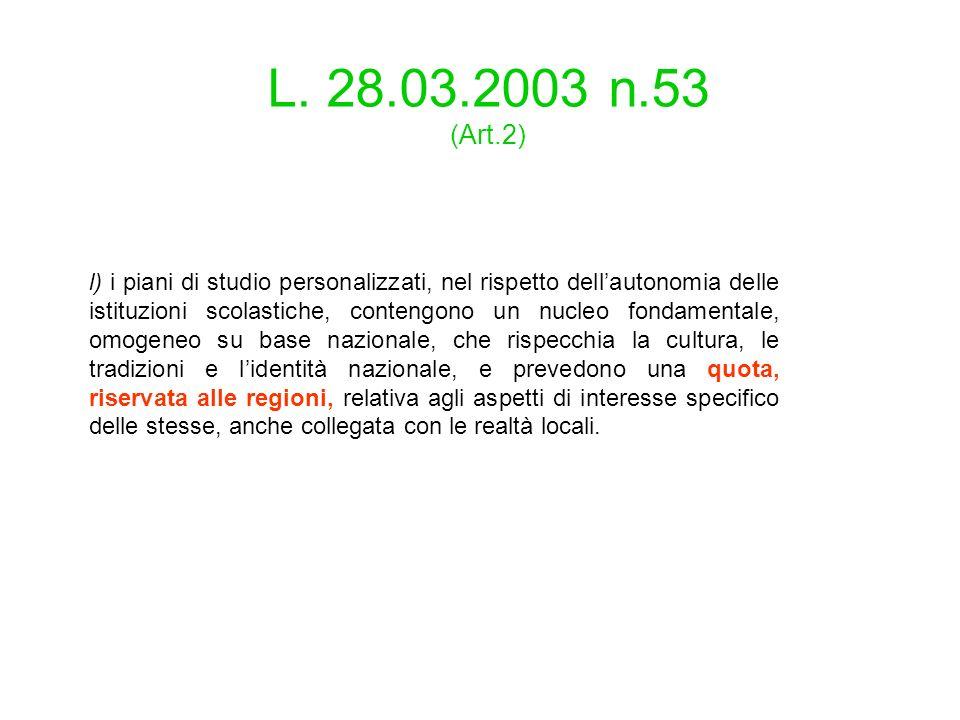 L. 28.03.2003 n.53 (Art.2)