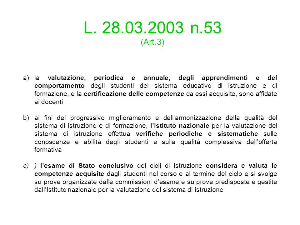 L. 28.03.2003 n.53 (Art.3)