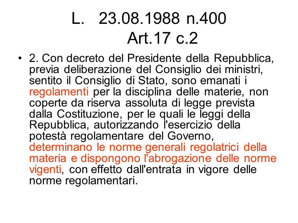 23.08.1988 n.400 Art.17 c.2