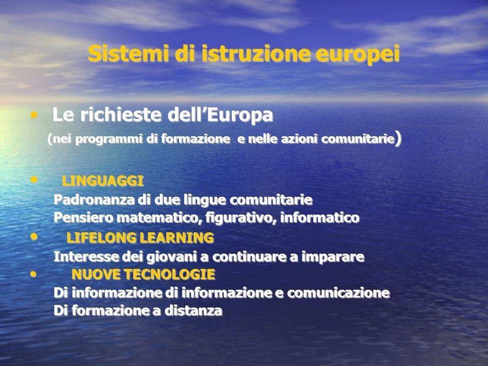 Sistemi di istruzione europei