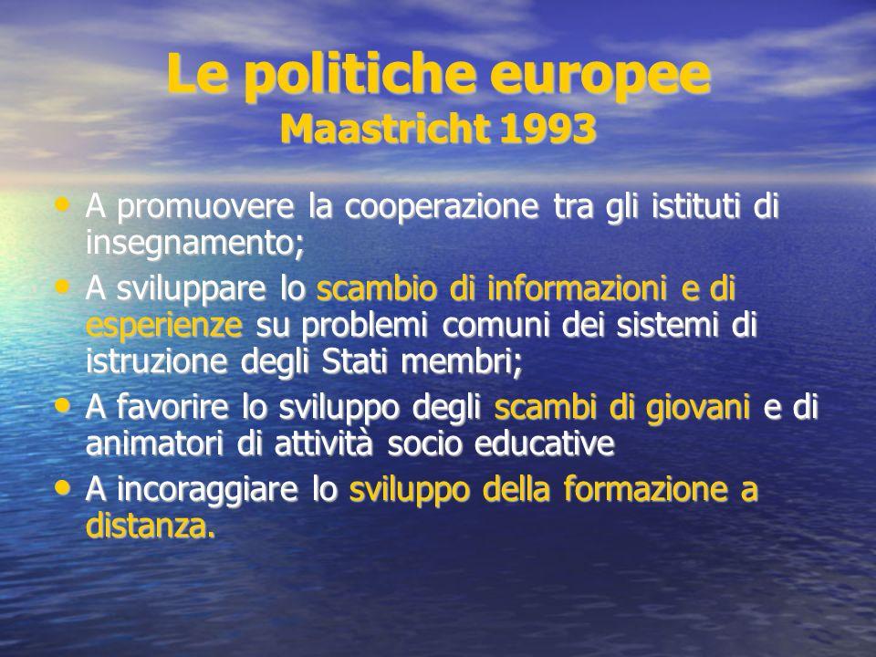 Le politiche europee Maastricht 1993