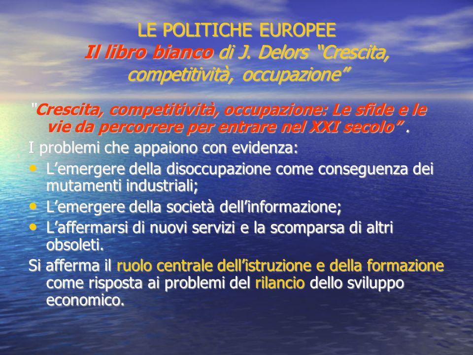 LE POLITICHE EUROPEE Il libro bianco di J