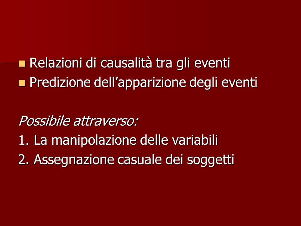 Relazioni di causalità tra gli eventi
