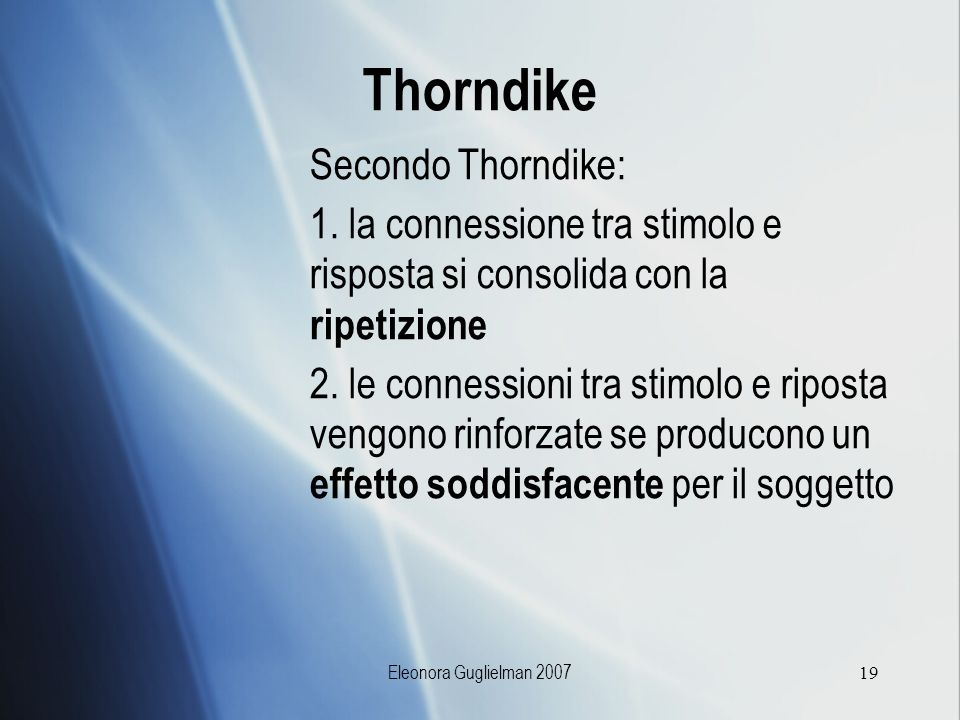 Thorndike Secondo Thorndike: