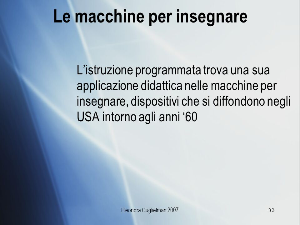 Le macchine per insegnare