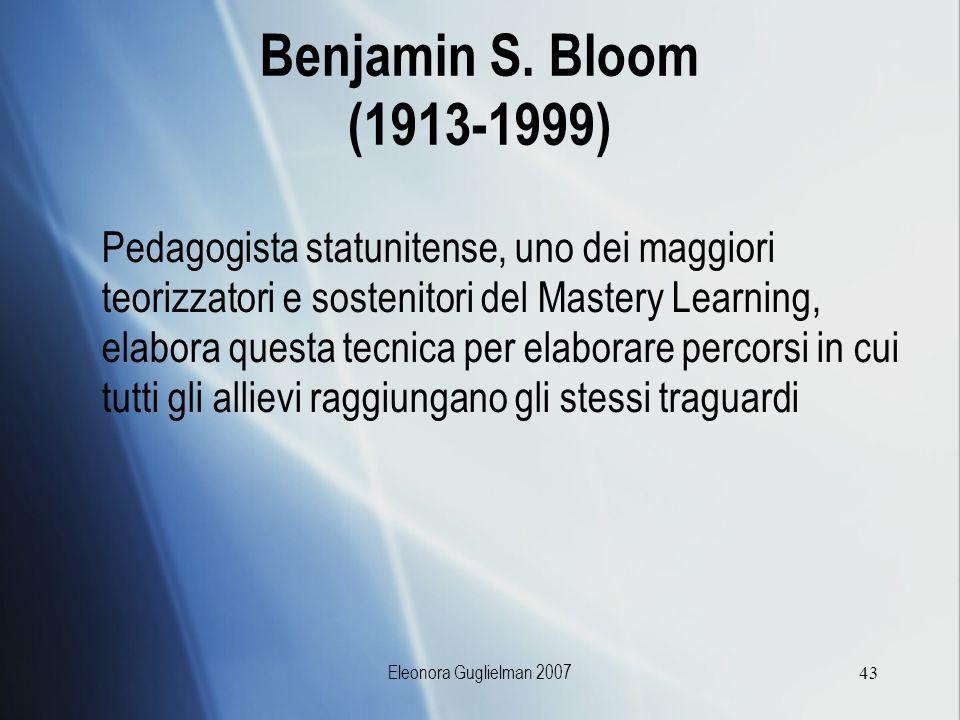 Benjamin S. Bloom (1913-1999)