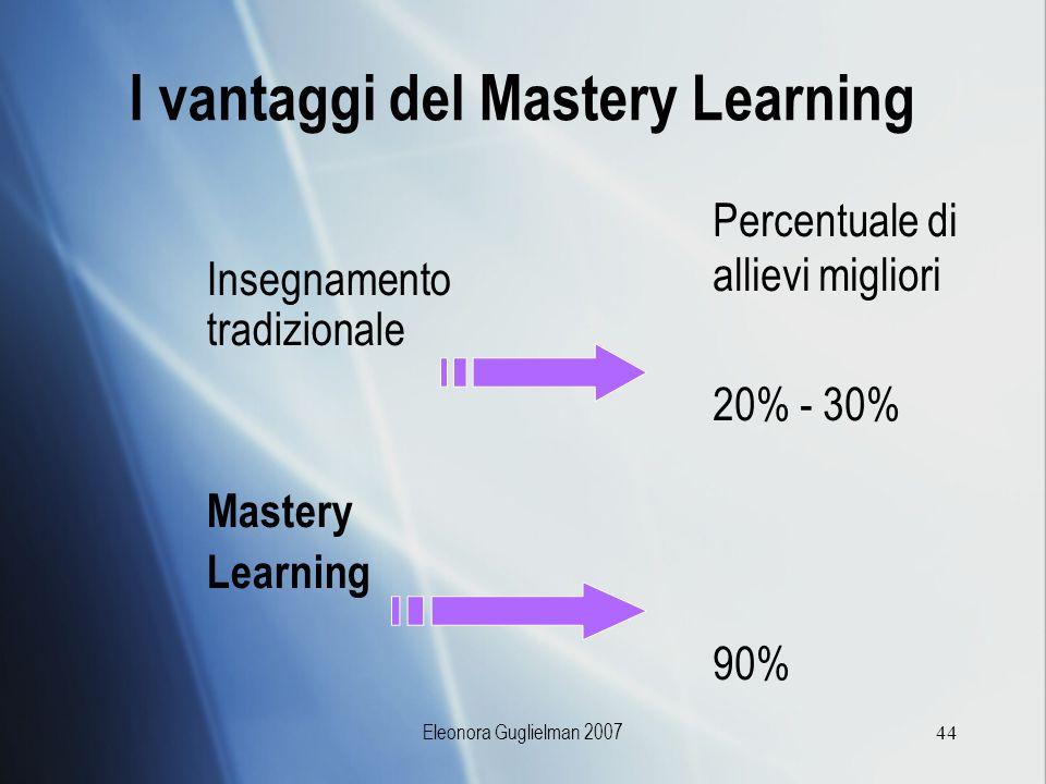 I vantaggi del Mastery Learning