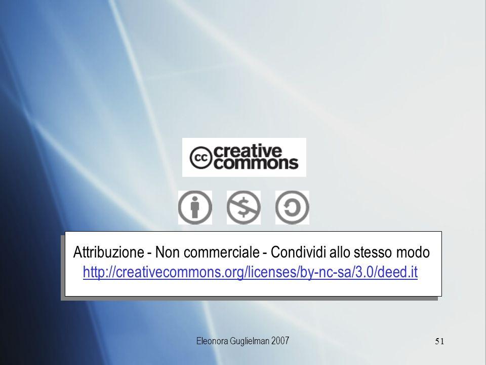 Attribuzione - Non commerciale - Condividi allo stesso modo